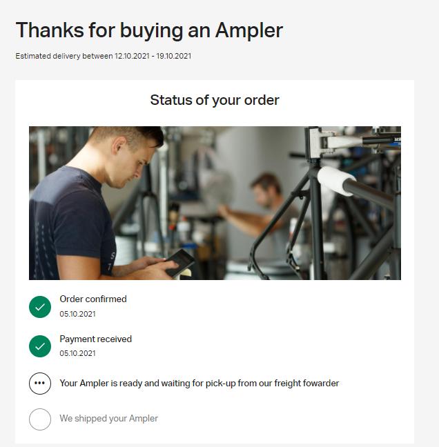 ampler order status